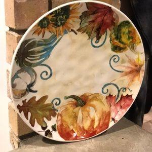 "Grace Fine Porcelain Harvest 11"" Plate"